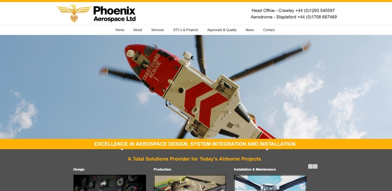PhoenixAerospace Website